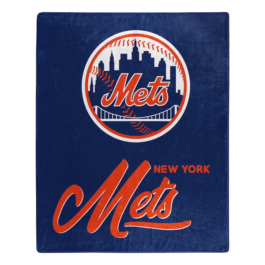New York Mets Plush Fleece Raschel Blanket 50 x 60