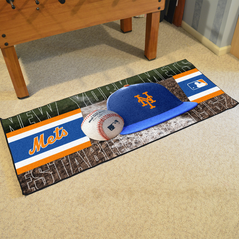 New York Mets 30 x 72 Baseball Carpet Runner