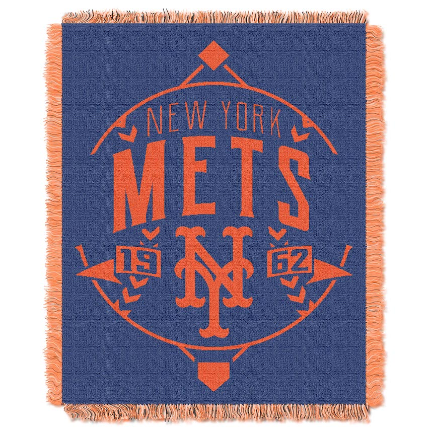 New York Mets MLB Double Play Tapestry Blanket 48 x 60