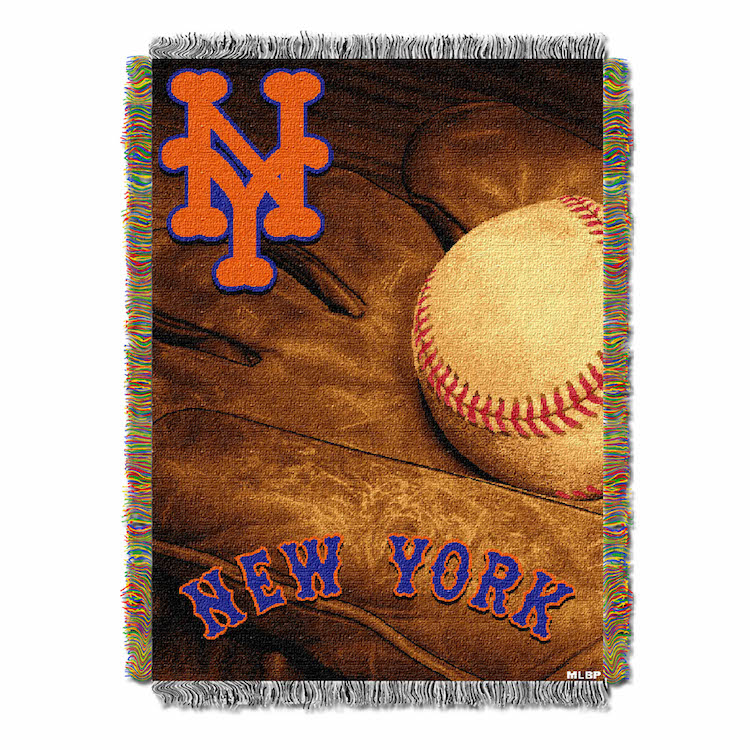 New York Mets Commemorative VINTAGE Tapestry Throw