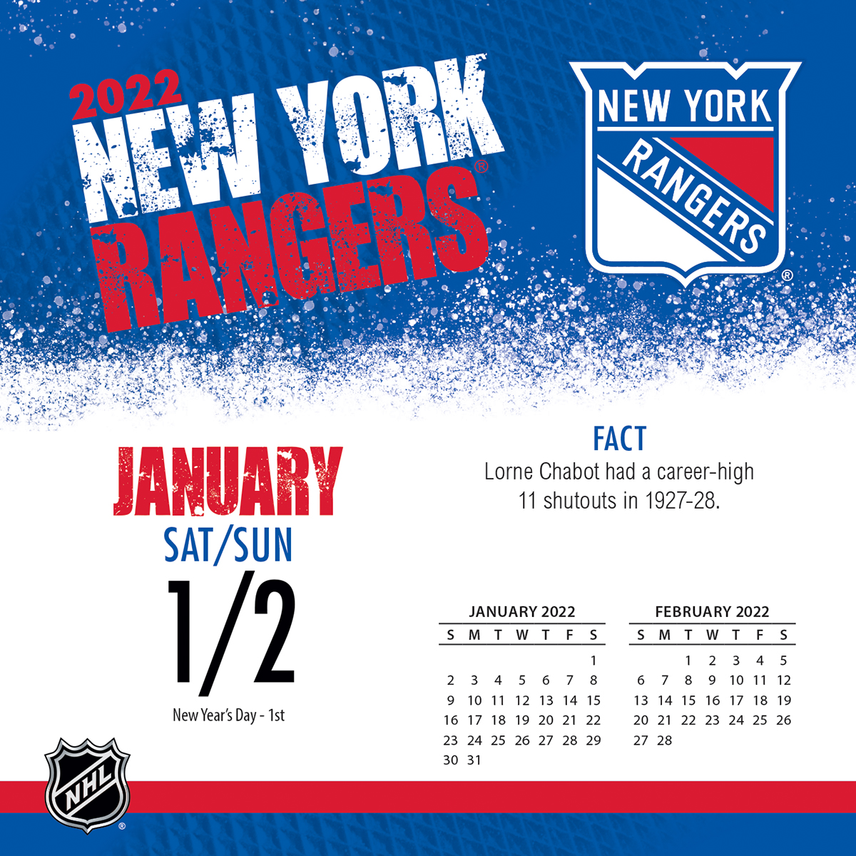 New York Rangers 2018 Page A Day Box Calendar Buy At Khc