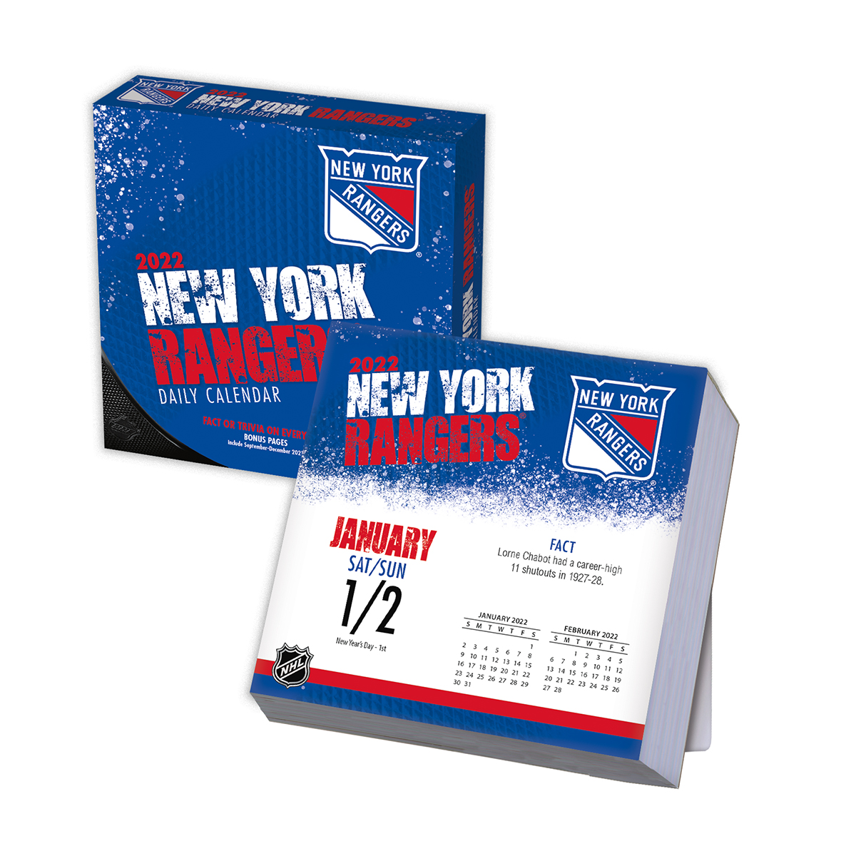 new york rangers 2018 page a day box calendar buy at khc sports