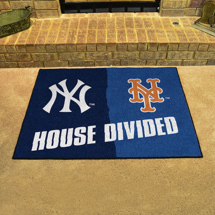 MLB House Divided Rivalry Rug New York Yankees - New York Mets