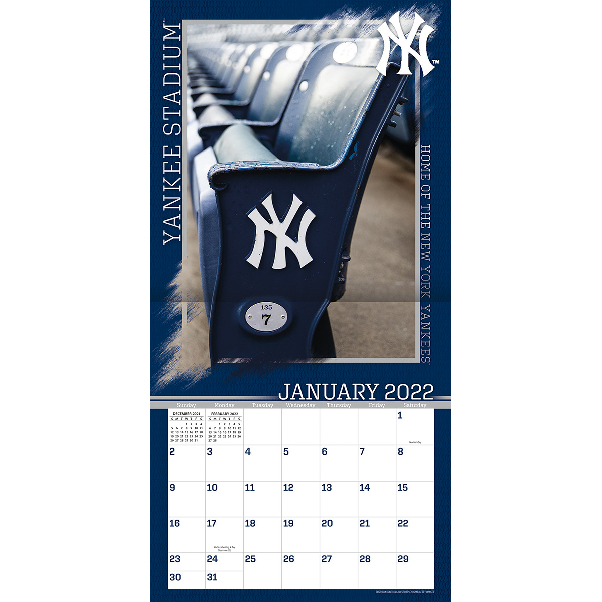 New York Yankees Yankee Stadium 2021 Wall Calendar