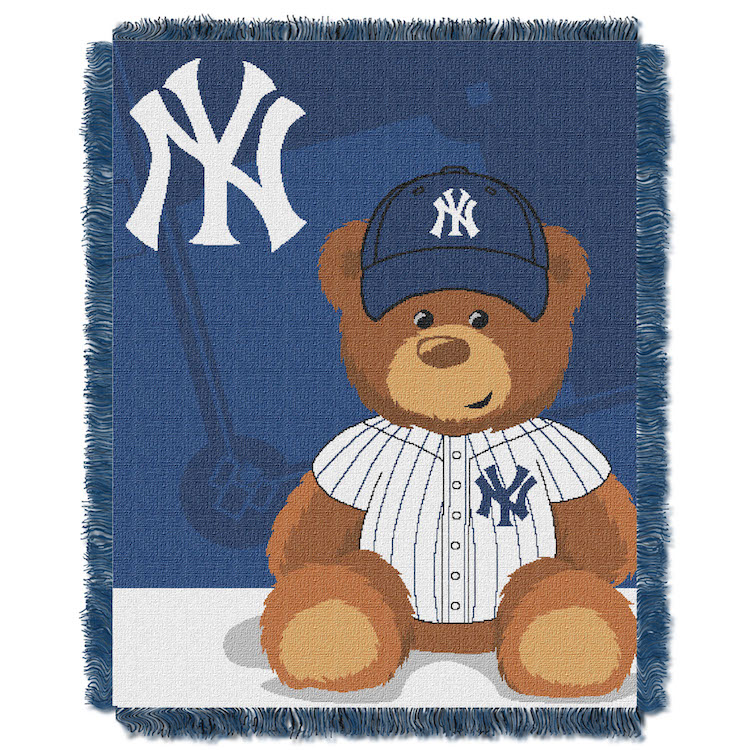 New York Yankees Woven Baby Blanket 36 x 48