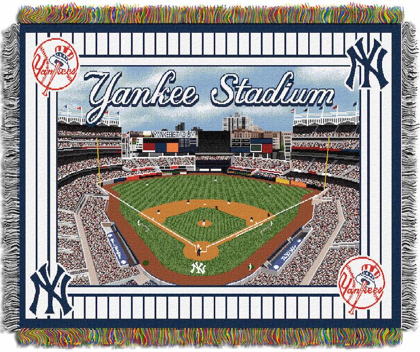 New Warriors Stadium Inside: New York Yankees Stadium Tapestry Blanket 48 X 60