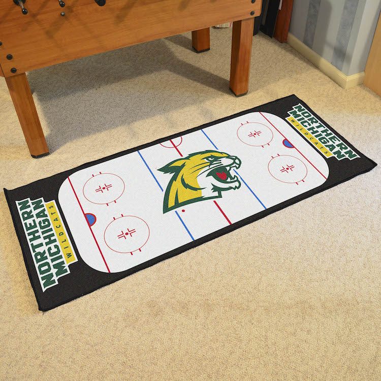 Northern Michigan Wildcats 30 x 72 Hockey Rink Carpet Runner