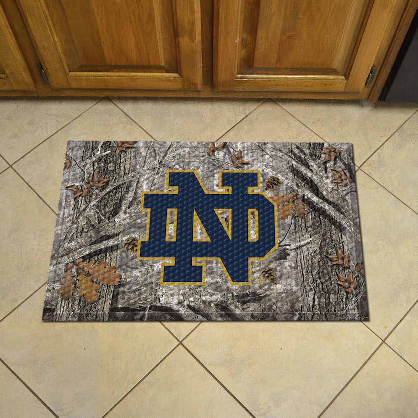 Notre Dame Fighting Irish Camo Style Scraper Door Mat