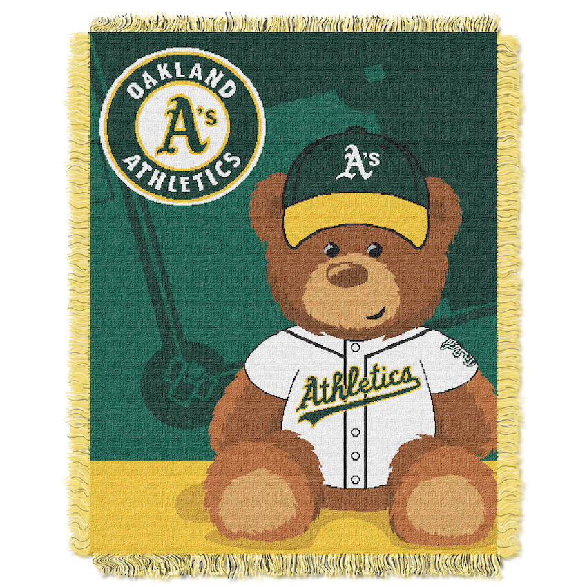 Oakland A's Woven Baby Blanket 36 x 48