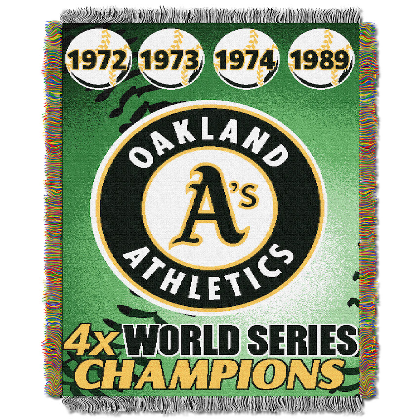 Oakland A's Commemorative World Series Tapestry Throw