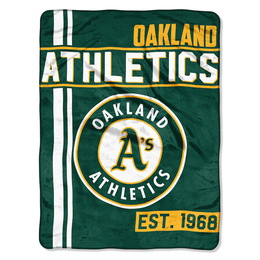 Oakland A's STRUCTURE Micro Raschel 50 x 60 Team Blanket