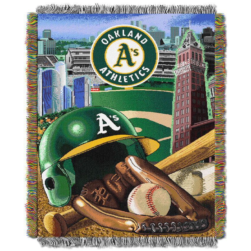 Oakland A's Home Field Advantage Series Tapestry Blanket 48 x 60