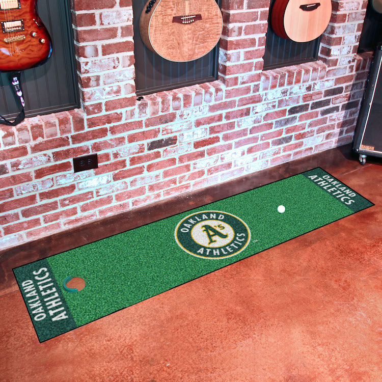 Oakland A's Putting Green Mat 18 x 72
