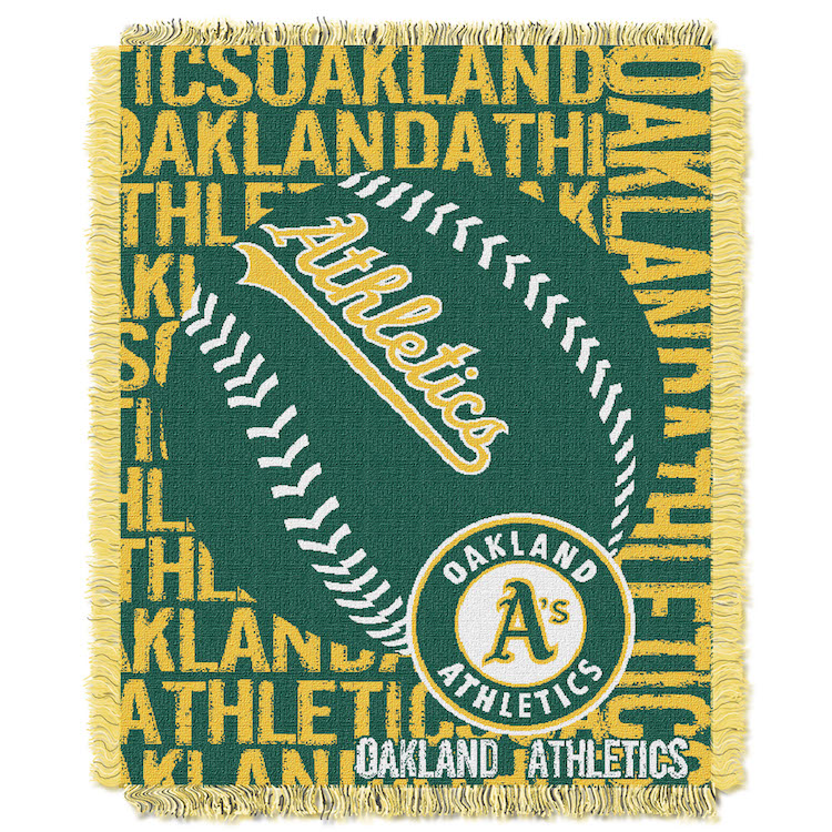 Oakland A's MLB Double Play Tapestry Blanket 48 x 60