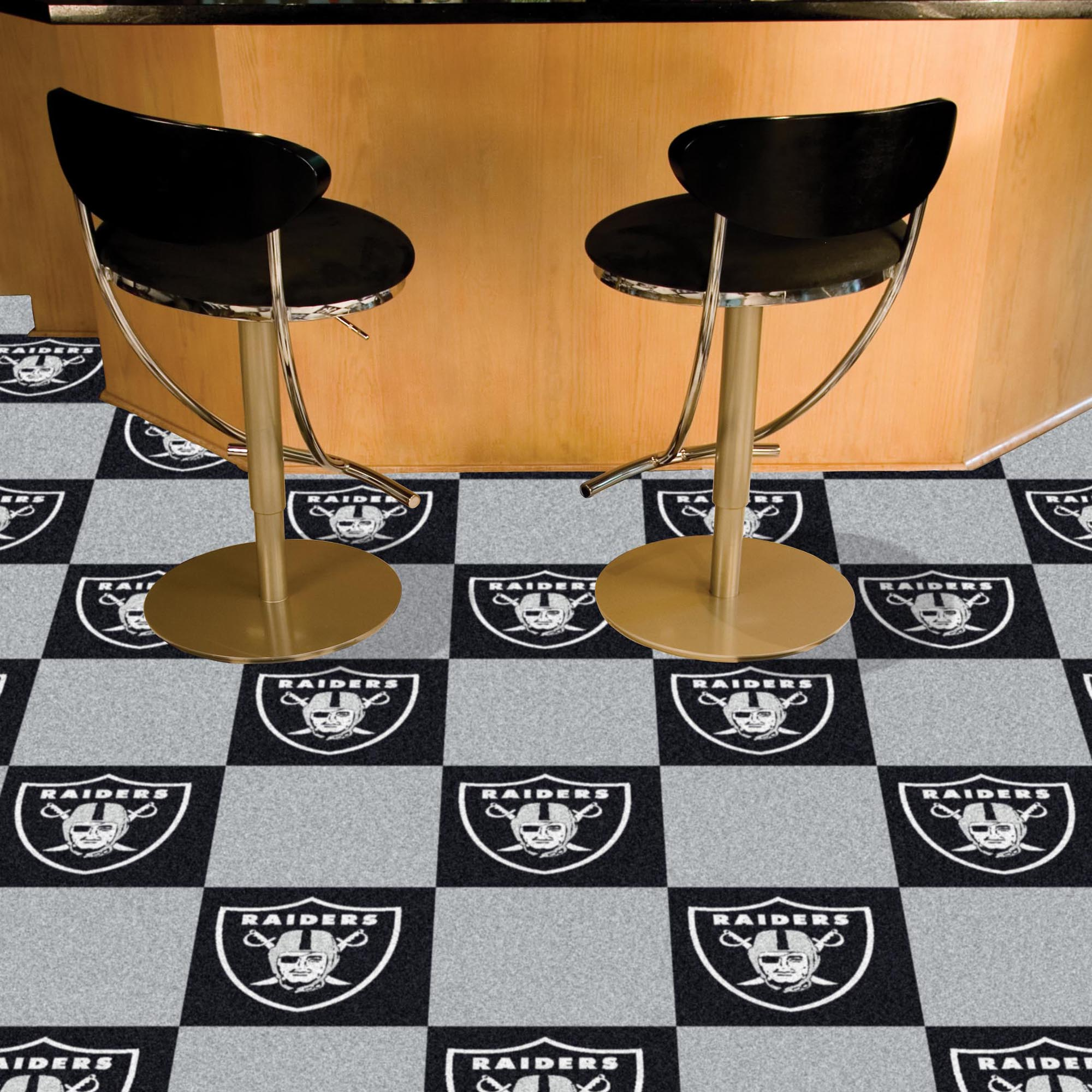 Oakland Raiders Carpet Tiles 18x18 in.