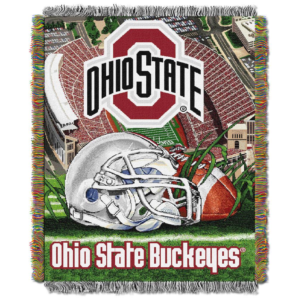 Ohio State Buckeyes Home Field Advantage Tapestry Blanket