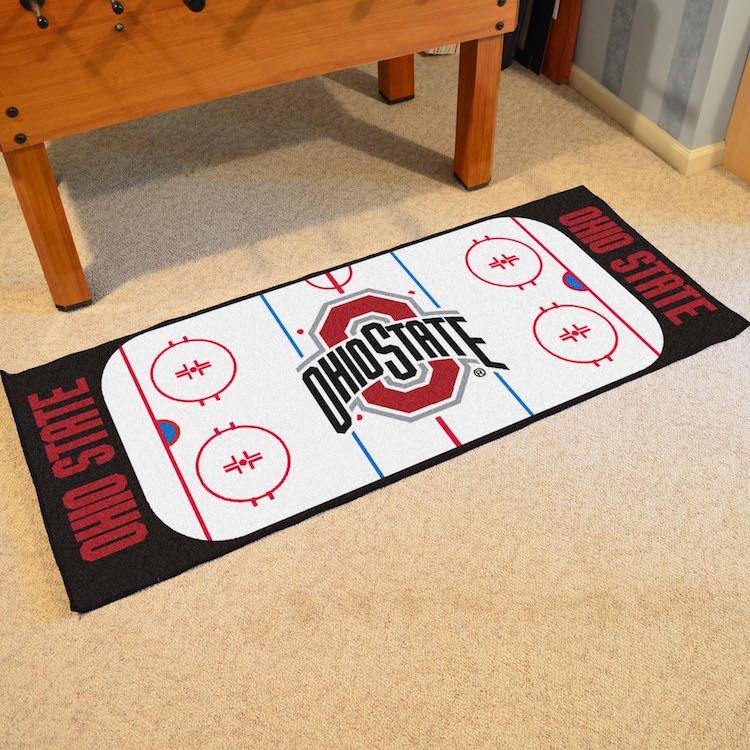 Ohio State Buckeyes Hockey Rink Runner 30 X 72 Floor Mat