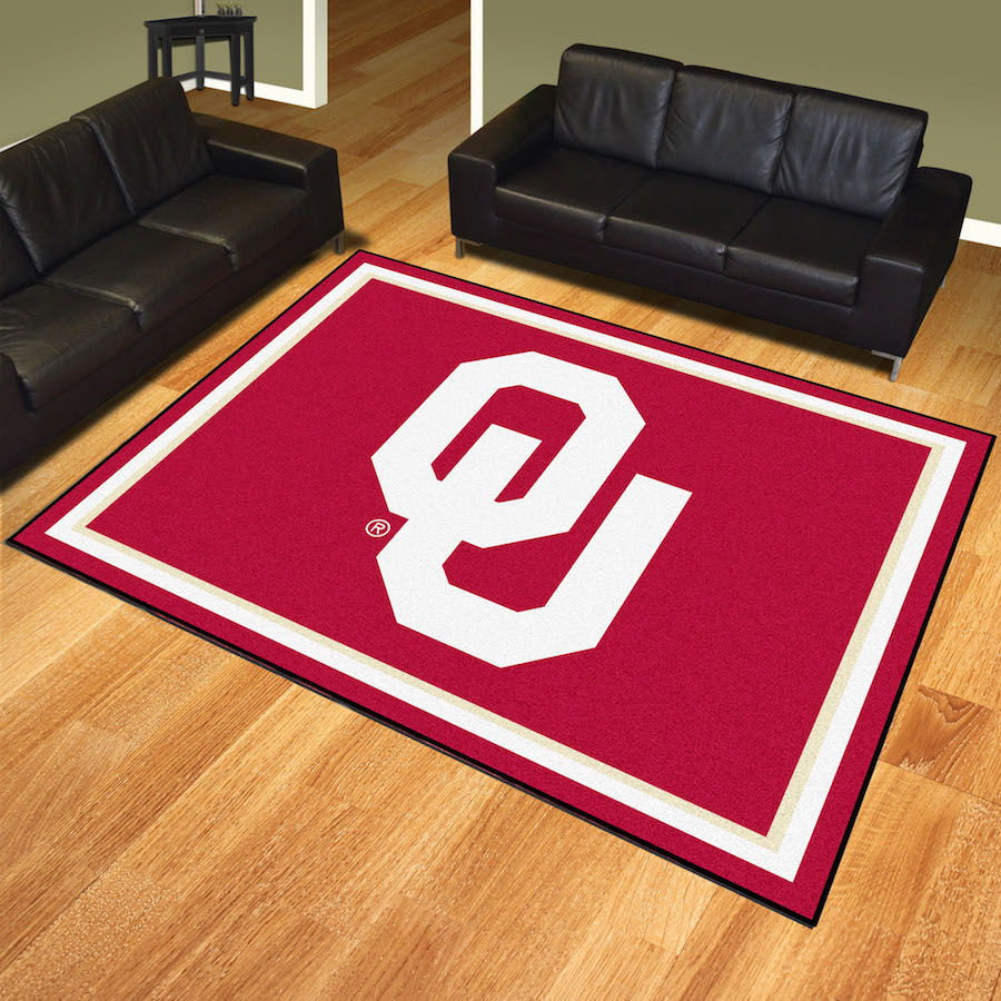 Oklahoma Sooners Ultra Plush 8x10 Area Rug