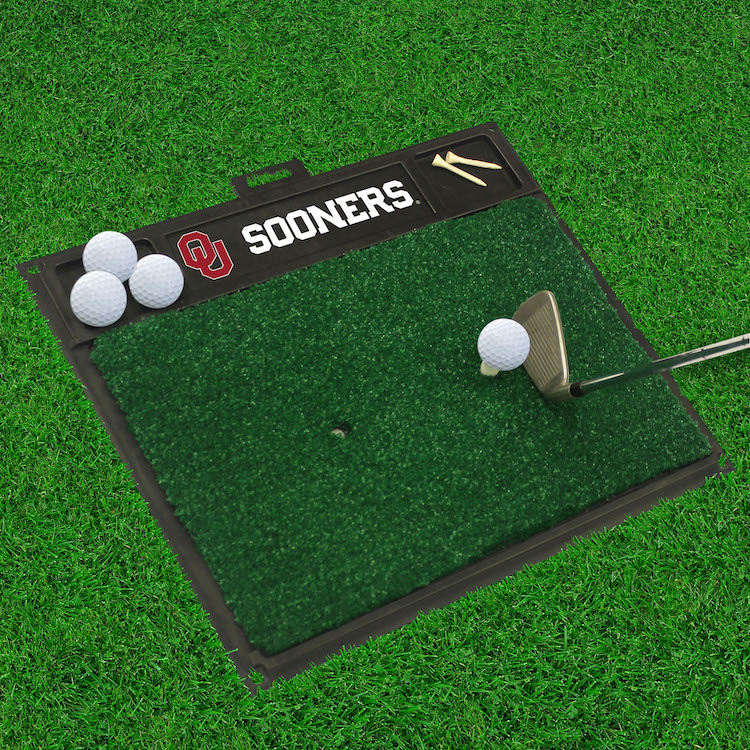 Oklahoma Sooners Golf Hitting Mat