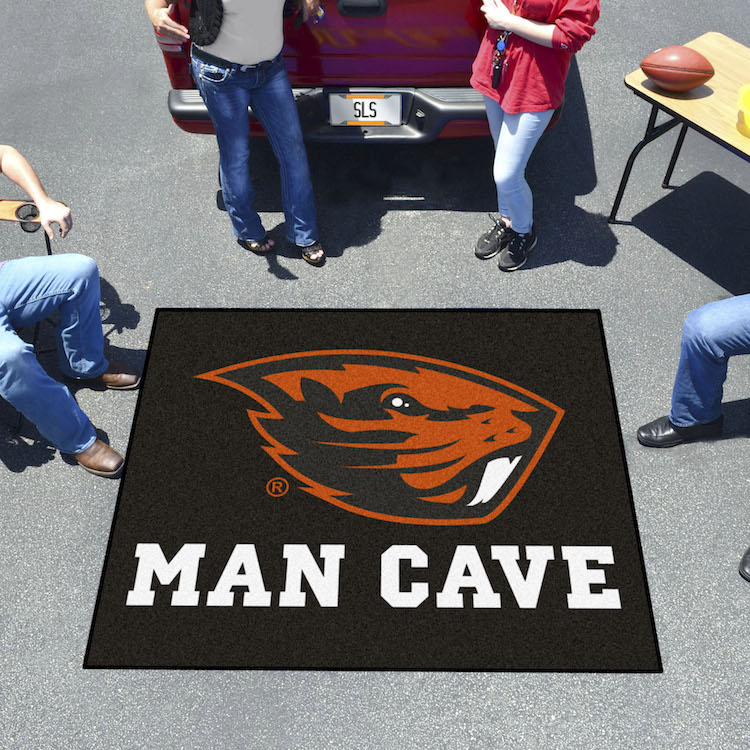 Oregon State Beavers MAN CAVE TAILGATER 60 x 72 Rug