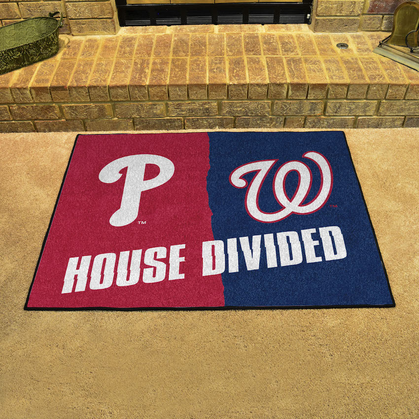MLB House Divided Rivalry Rug Philadelphia Phillies - Washington Nationals