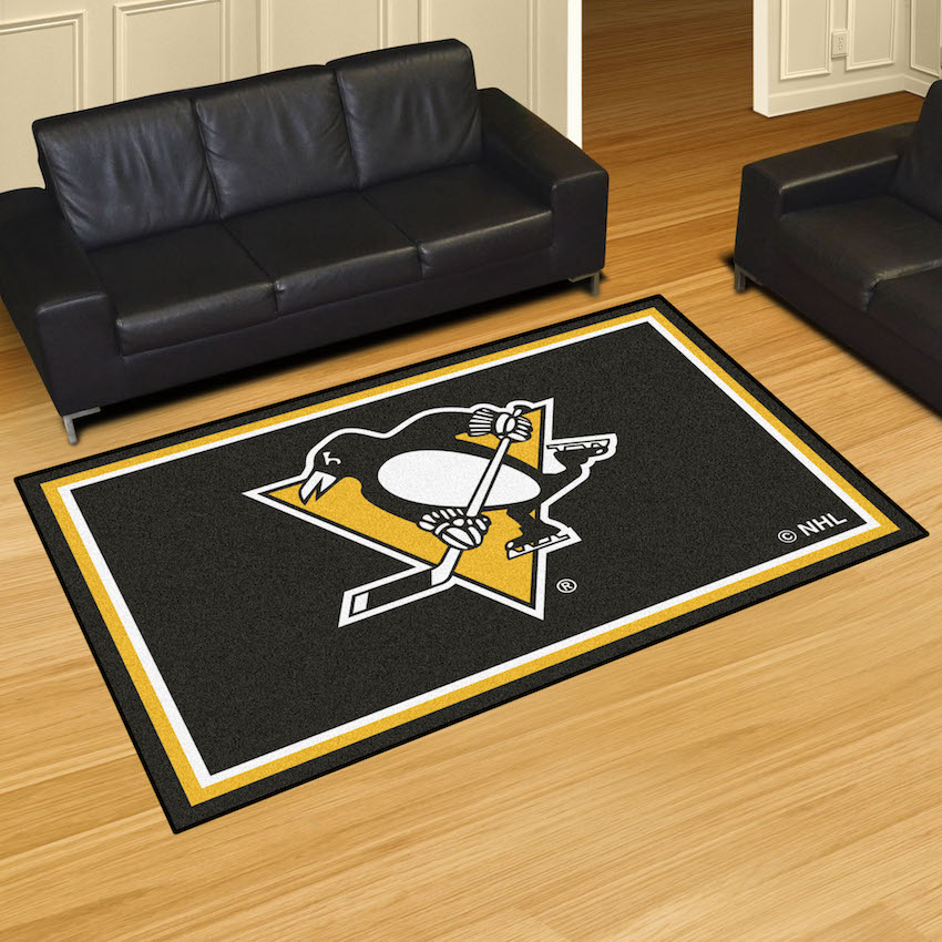 Pittsburgh Penguins 5x8 Area Rug Buy At Khc Sports