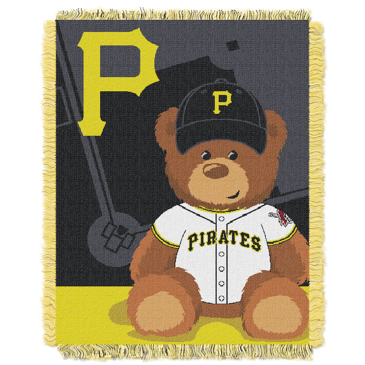 Pittsburgh Pirates Woven Baby Blanket 36 x 48