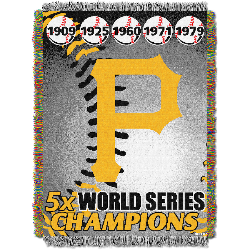 Pittsburgh Pirates Commemorative World Series Tapestry Throw