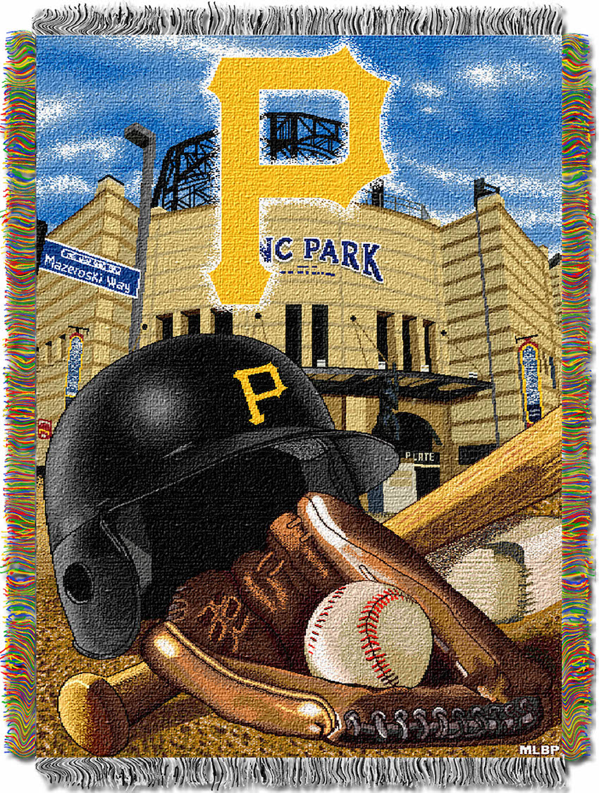 Pittsburgh Pirates Home Field Advantage Series Tapestry Blanket 48 x 60