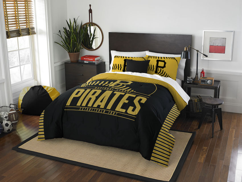 Pittsburgh Pirates QUEEN/FULL size Comforter and 2 Shams