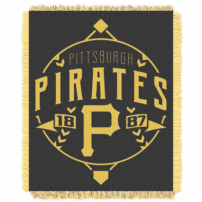 Pittsburgh Pirates MLB Double Play Tapestry Blanket 48 x 60