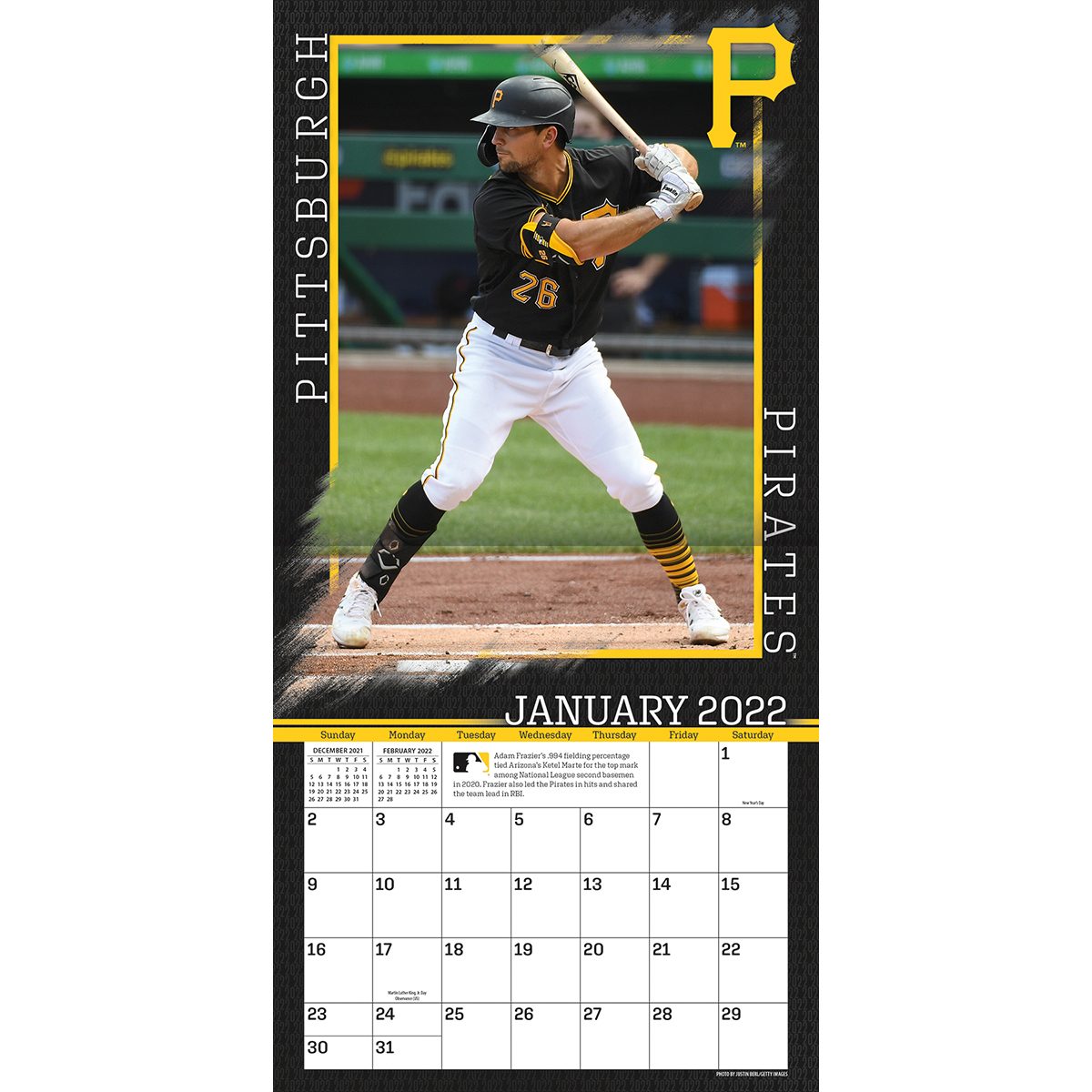 Pittsburgh Pirates 2019 Wall Calendar Buy At Khc Sports
