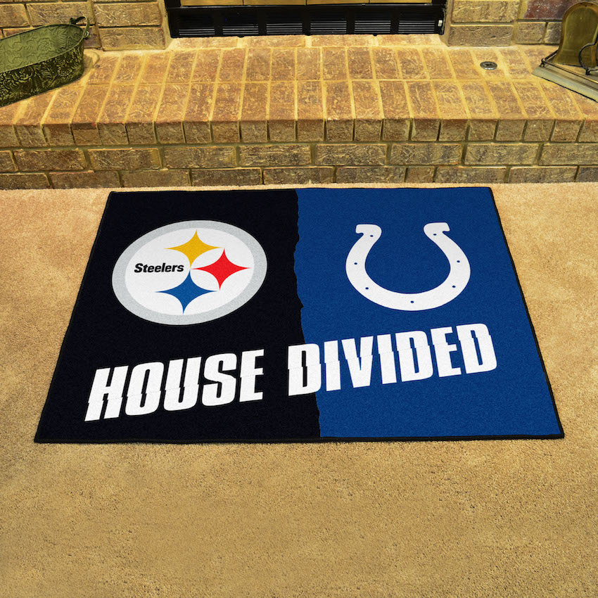 NFL House Divided Rivalry Rug Pittsburgh Steelers - Indianapolis Colts