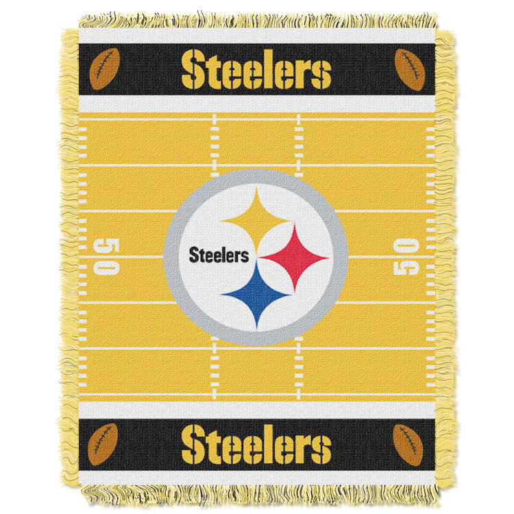 Pittsburgh Steelers Woven Baby Blanket 36 X 48 Buy At
