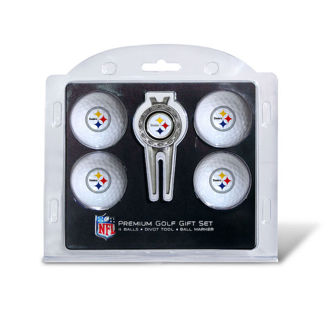 Pittsburgh Steelers 4 Golf Ball and Divot Tool Set