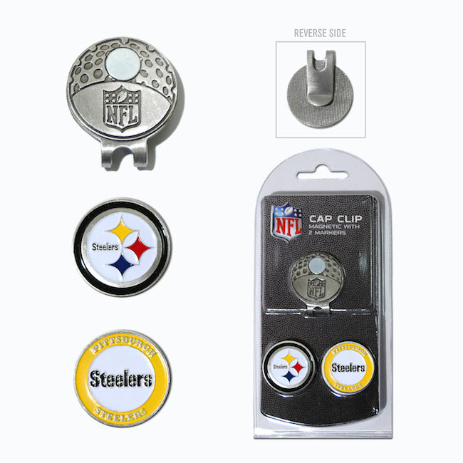 Pittsburgh Steelers Hat Clip With 2 Ball Markers