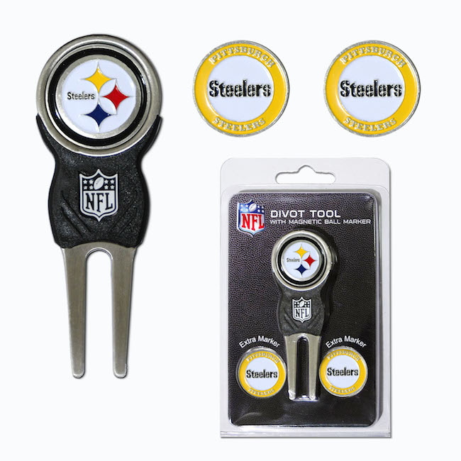 Pittsburgh Steelers 3 Marker Signature Divot Tool Pack