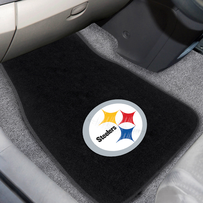 Pittsburgh Steelers Car Floor Mats 17 x 26 Embroidered Pair