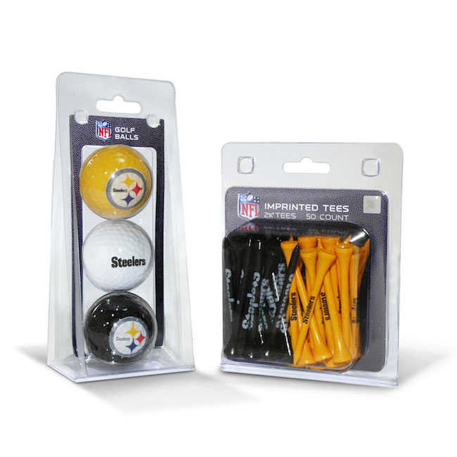 Pittsburgh Steelers 3 Ball Pack and 50 Tee Pack