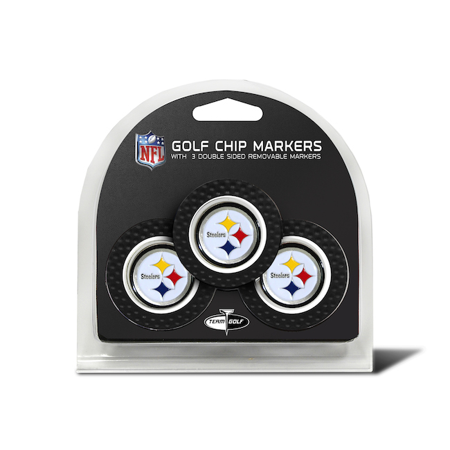 Pittsburgh Steelers 3 Pack Golf Chips