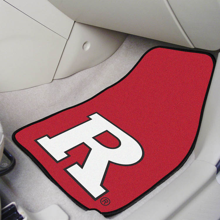 Rutgers Scarlet Knights Car Floor Mats 18 x 27 Carpeted-Pair