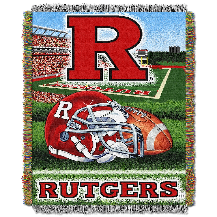 Rutgers Scarlet Knights Home Field Advantage Series Tapestry Blanket 48 x 60