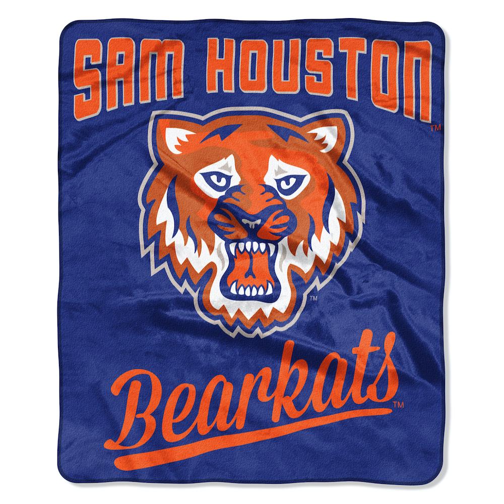 Sam Houston State Bearkats Plush Fleece Raschel Blanket 50