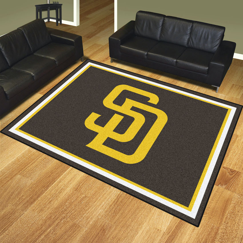 San Diego Padres Ultra Plush 8x10 Area Rug