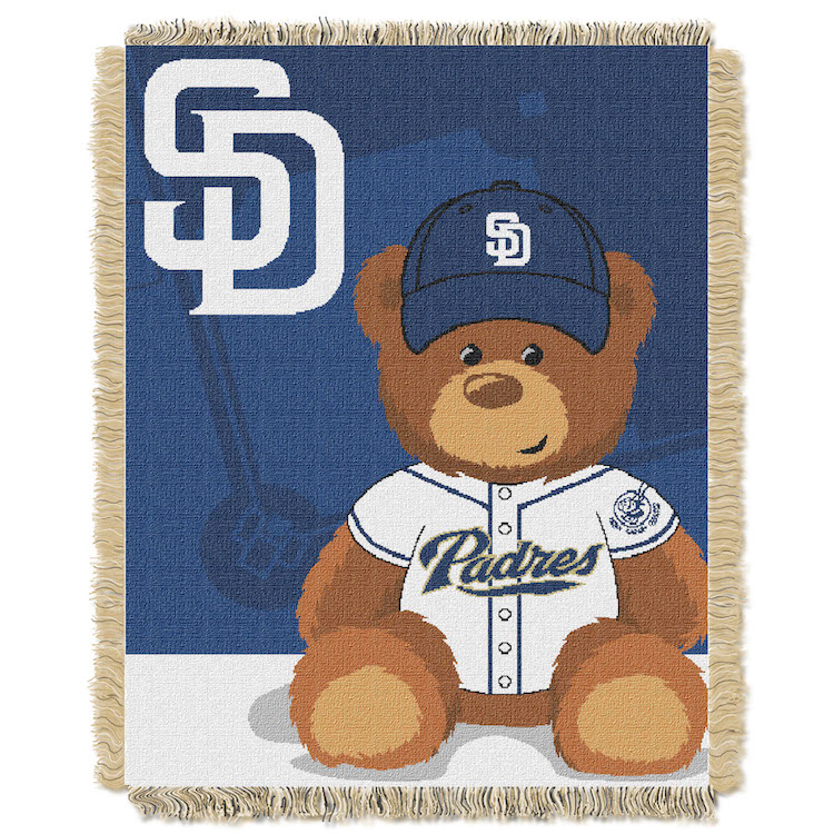 San Diego Padres Woven Baby Blanket 36 x 48