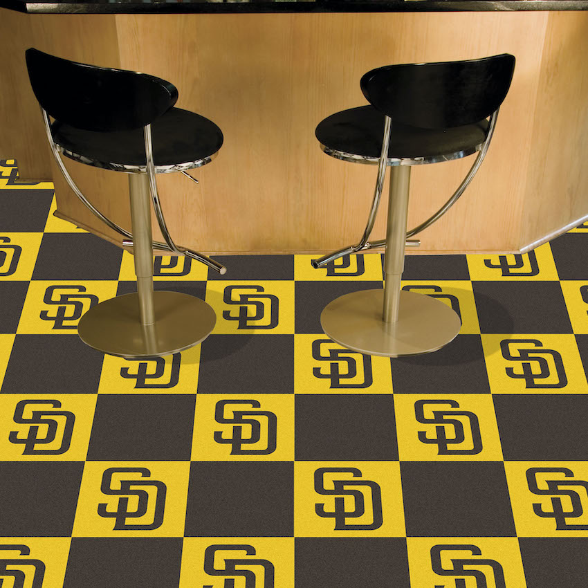 San Diego Padres Carpet Tiles 18x18 in.
