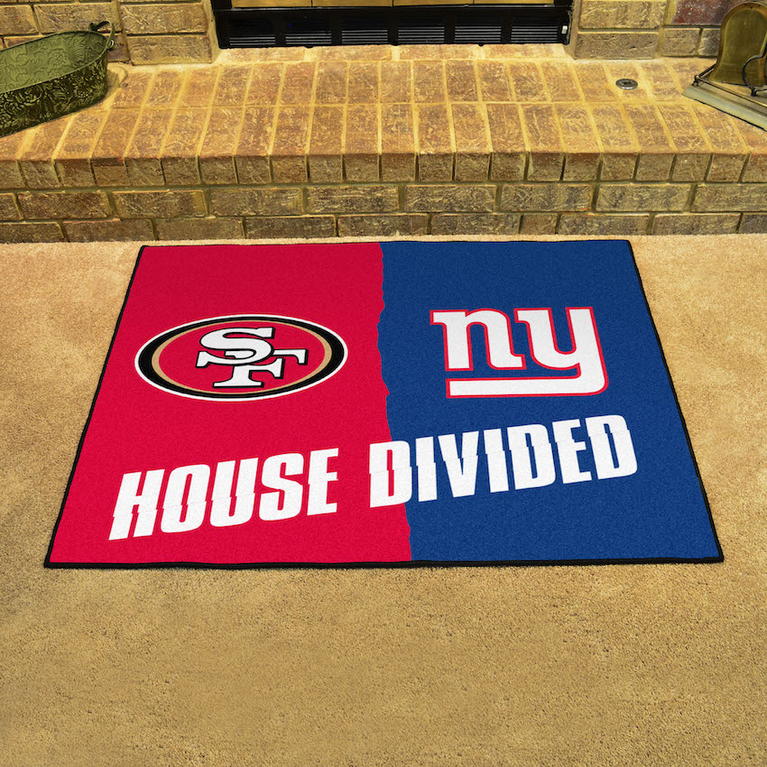 NFL House Divided Rivalry Rug San Francisco 49ers - New York Giants