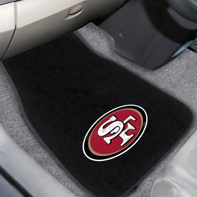 San Francisco 49ers Car Floor Mats 17 x 26 Embroidered Pair