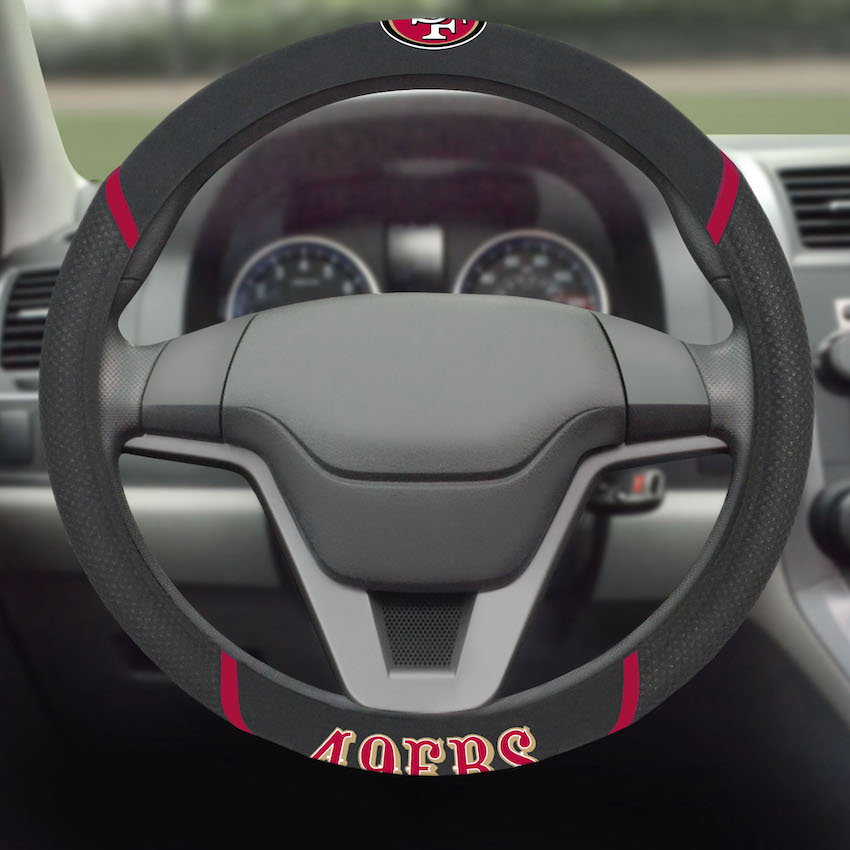San Francisco 49ers Steering Wheel Cover