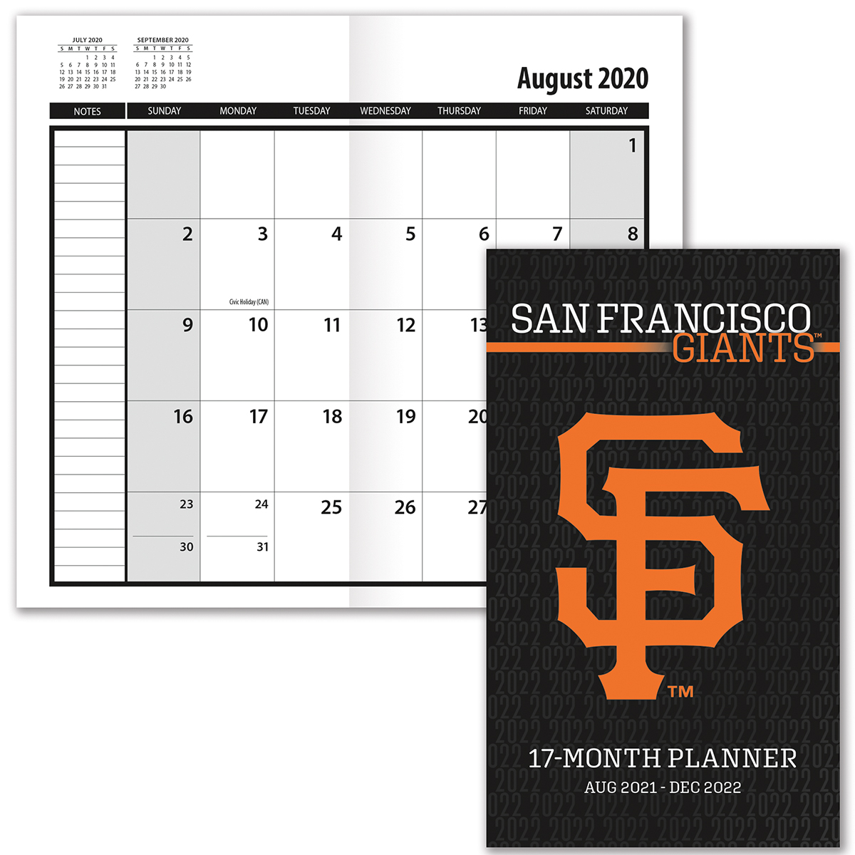 San Francisco Giants 2017 18 Academic Planner Buy At Khc